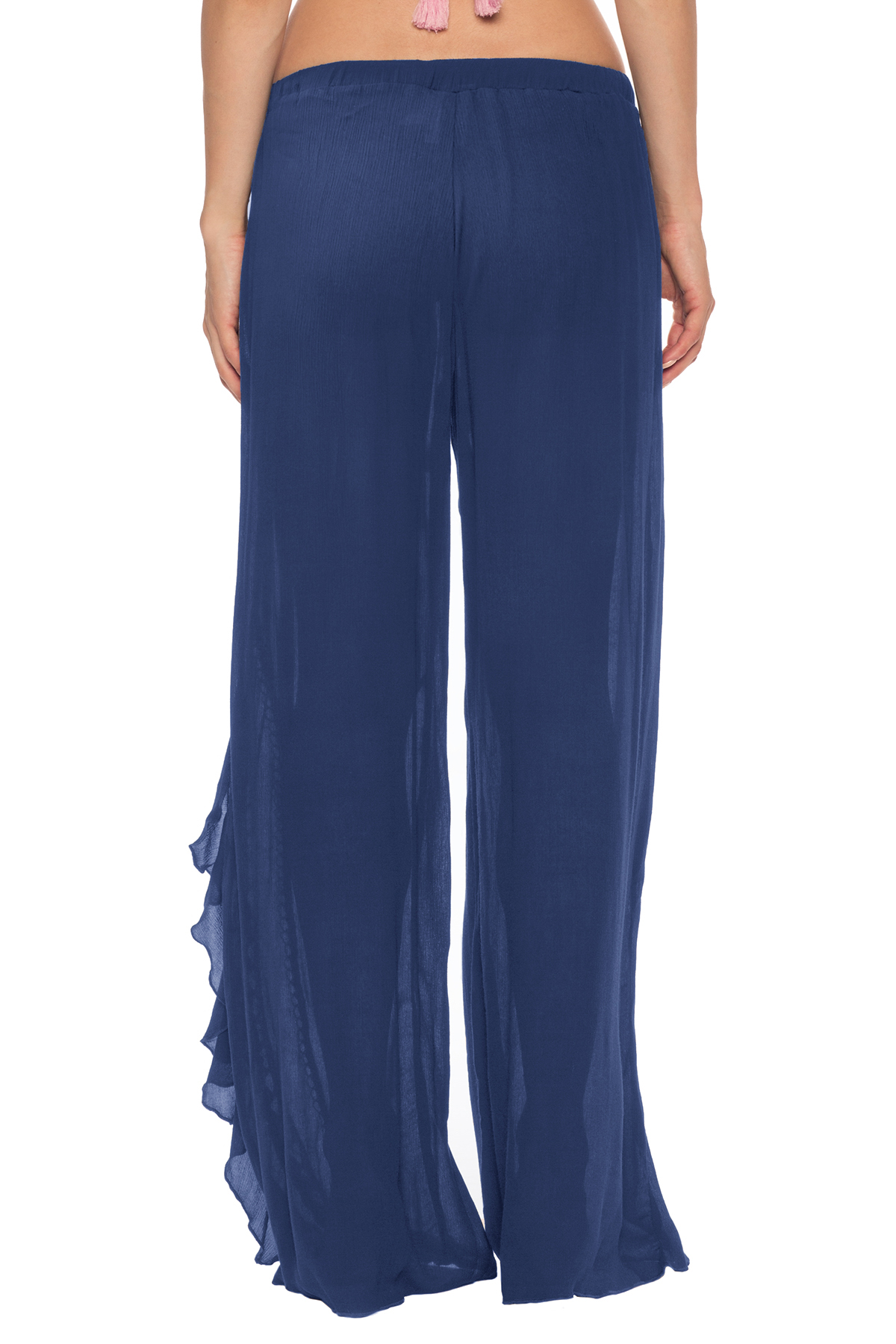 Rickrack Cover Pants - Navy 2