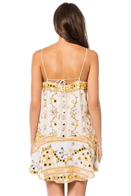Embroidered Mirrored Pailletes Tank Dress