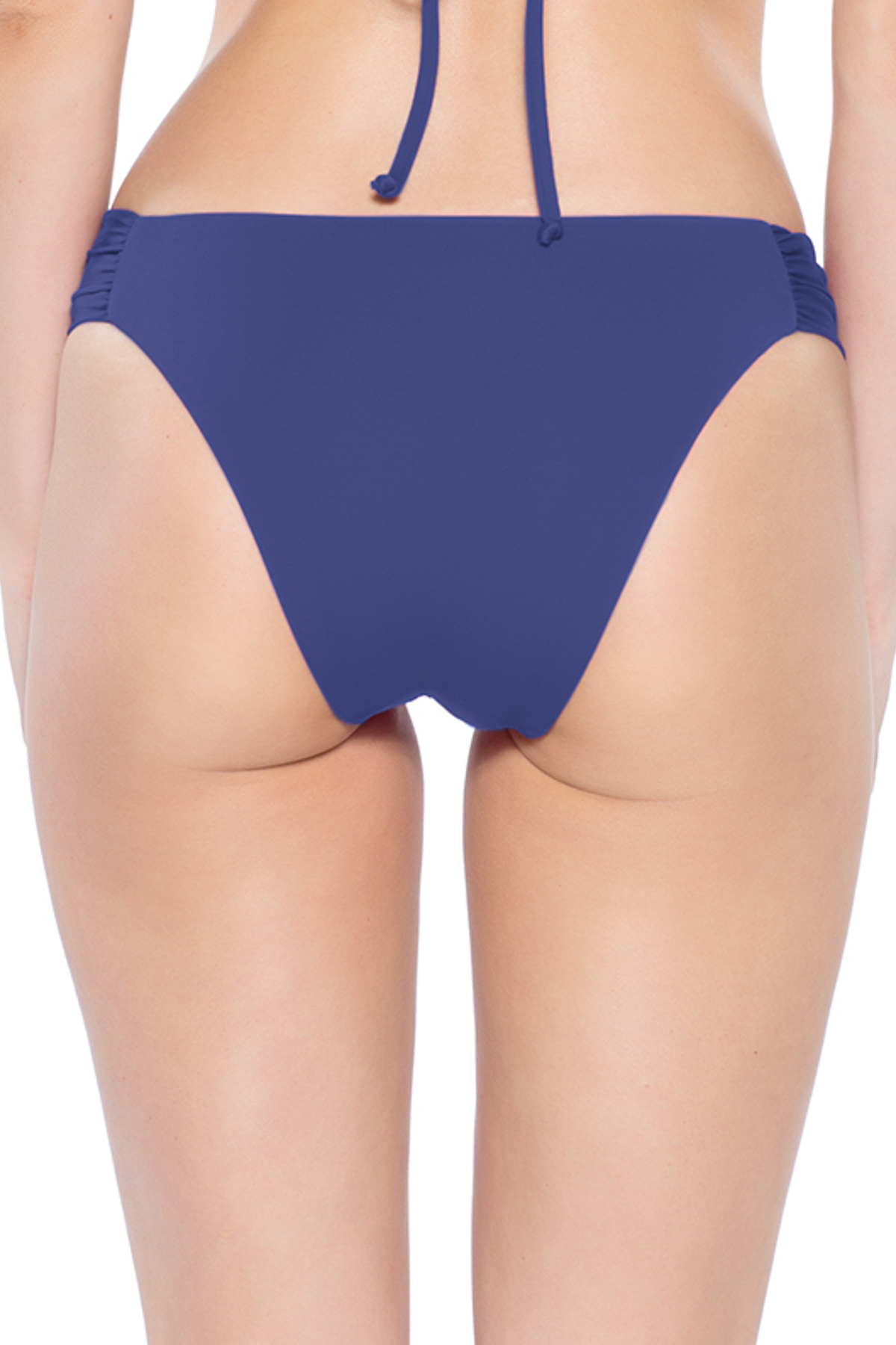 Coastal Tab Side Brazilian Bikini Bottom - Blue Topaz 4
