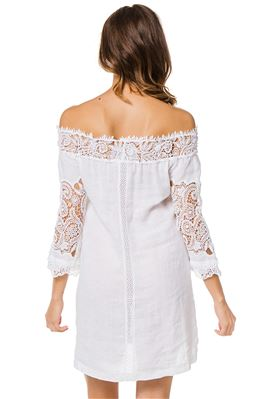 Trani Off The Shoulder Crochet Lace Dress