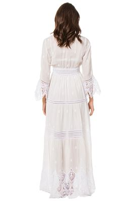 Roma Crochet Lace Maxi Dress