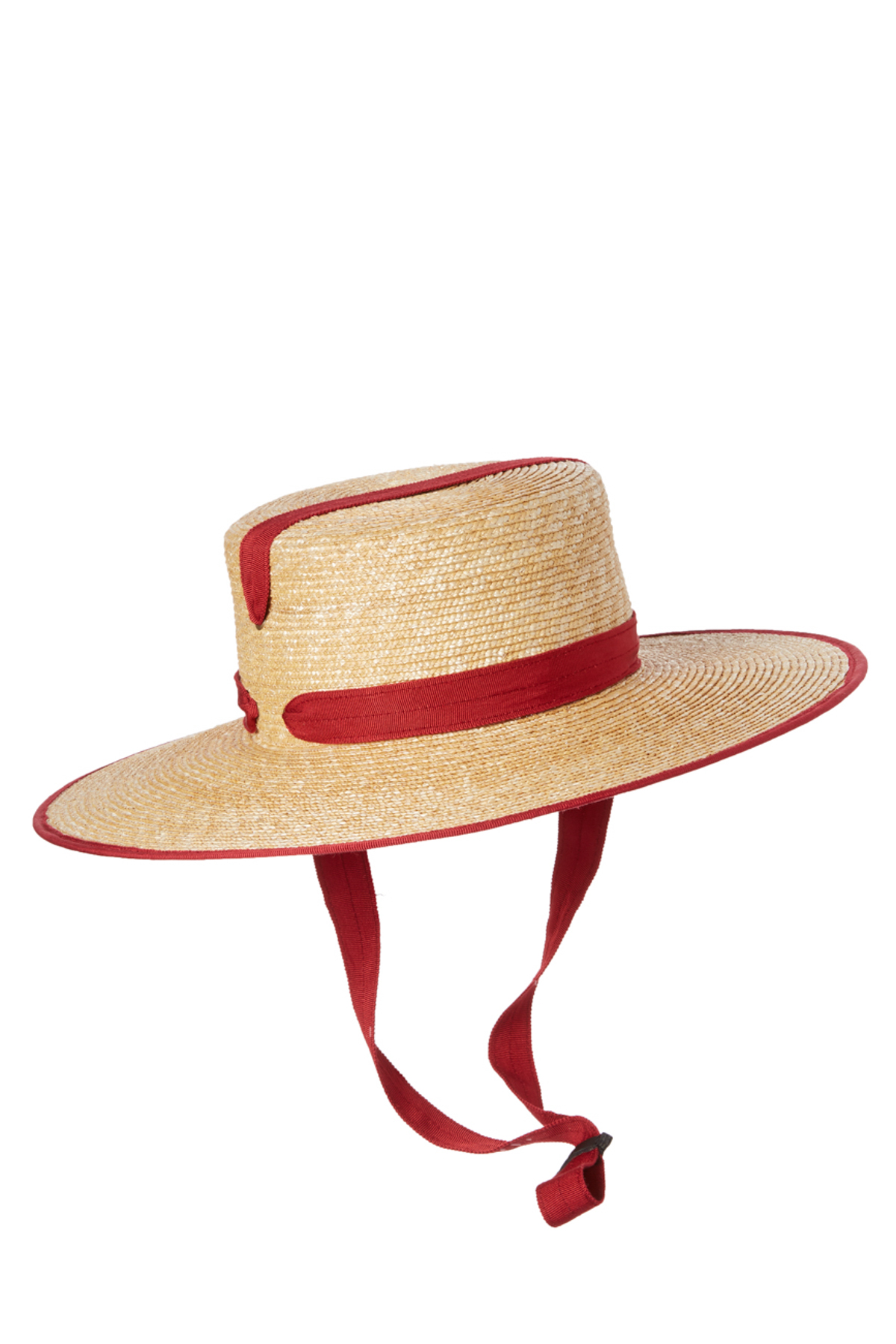 Zorro Bis Ribbon Trim Wide Brim Hat - Natural/Pomegranate 1