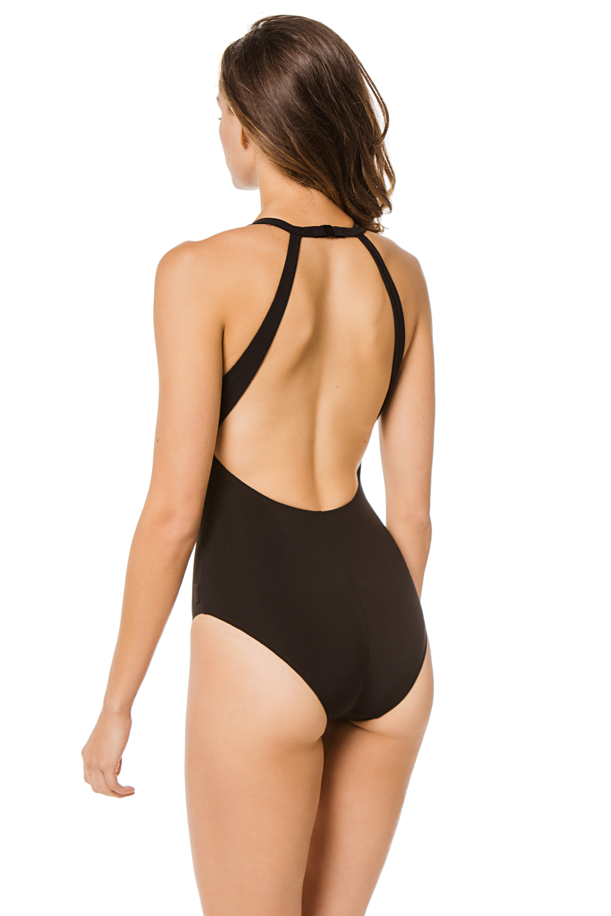 High Neck One Piece Swimsuit - Onyx 2