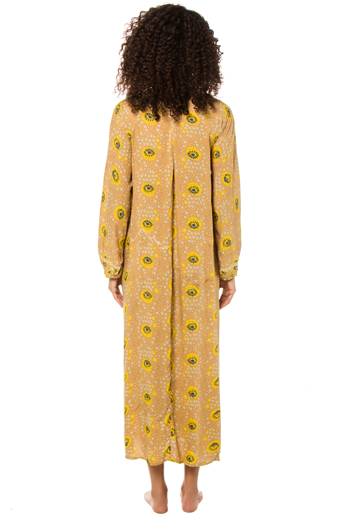 Fiore Long Sleeve Maxi Dress - Vintage Flowers Gold 2
