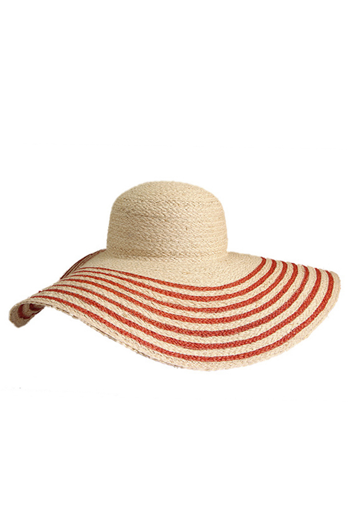 Laurel Wide Brim Hat - Natural/Tangelo 1