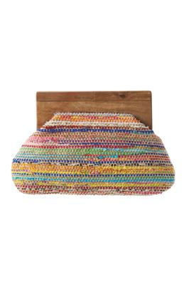 Colorful Woven Clutch