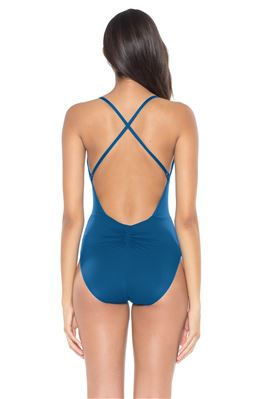 Cinch Front One Piece Swimsuit