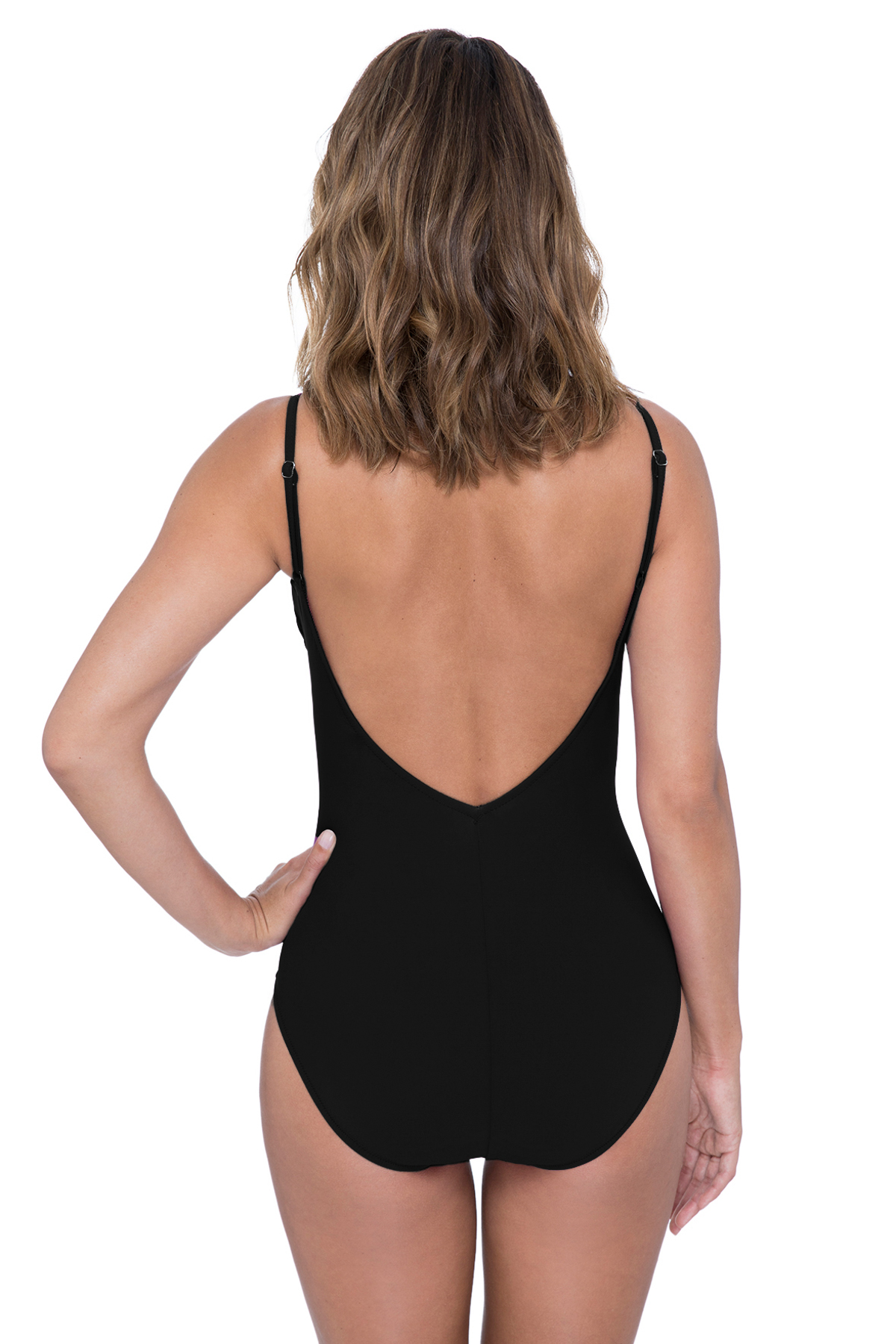 41cfe72cff29d Profile by Gottex s Love n Lace Ladder Plunge One Piece Swimsuit