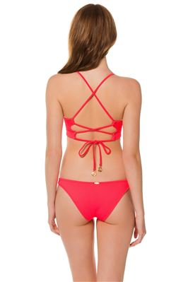 Ribbed Banded Underwire X-Back Bikini Top