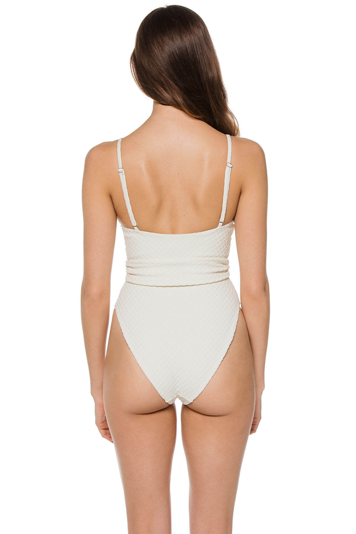 Gamela Over The Shoulder One Piece Swimsuit - Cream 2