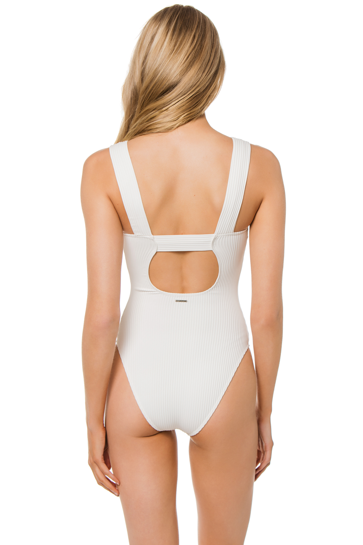 Amalfi Over The Shoulder One Piece Swimsuit - Pure 2