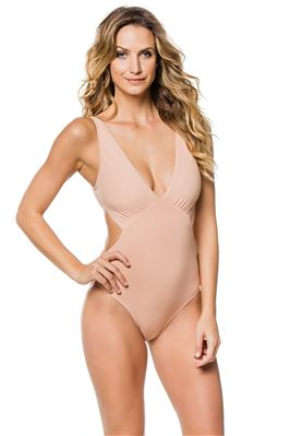 Del Mar Plunge One Piece Swimsuit