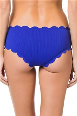 Reversible Spring Scalloped Boyshort Bikini Bottom