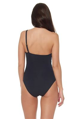 Grommet Asymmetrical One Piece Swimsuit