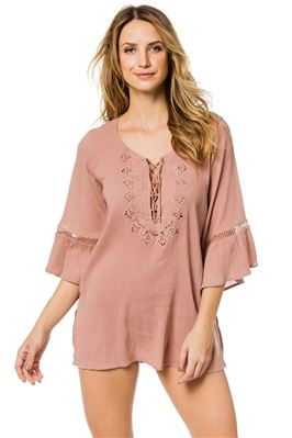 Embroidered Crochet Tunic