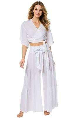 Wide Leg Bow Tie Pants