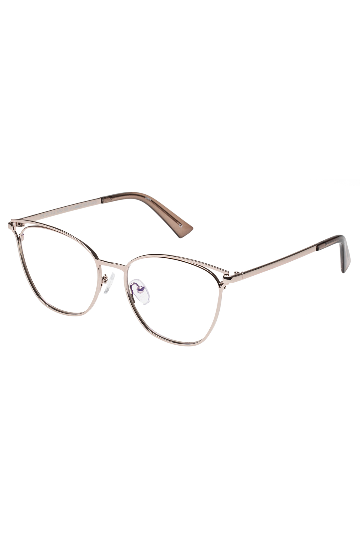 The Dutiful and the Scammed Blue Light Filter Glasses (0.0 Strength) - Rose Gold 1