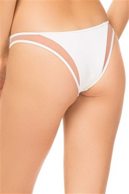 Manon Ribbed Tab Side Brazilian Bikini Bottom