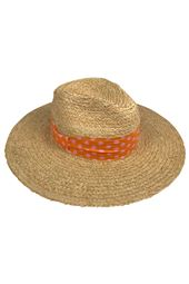 Polka Dot Print Trim Sun Hat