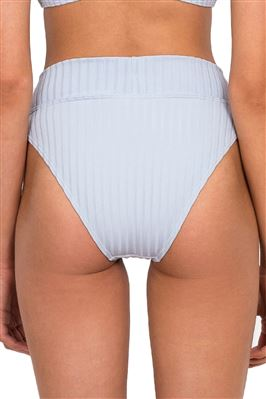 Panelled Banded High Waist Bikini Bottom