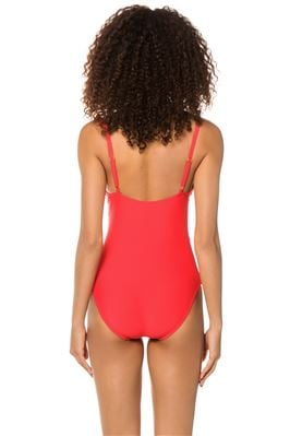 Ruffle Wrap One Piece Swimsuit