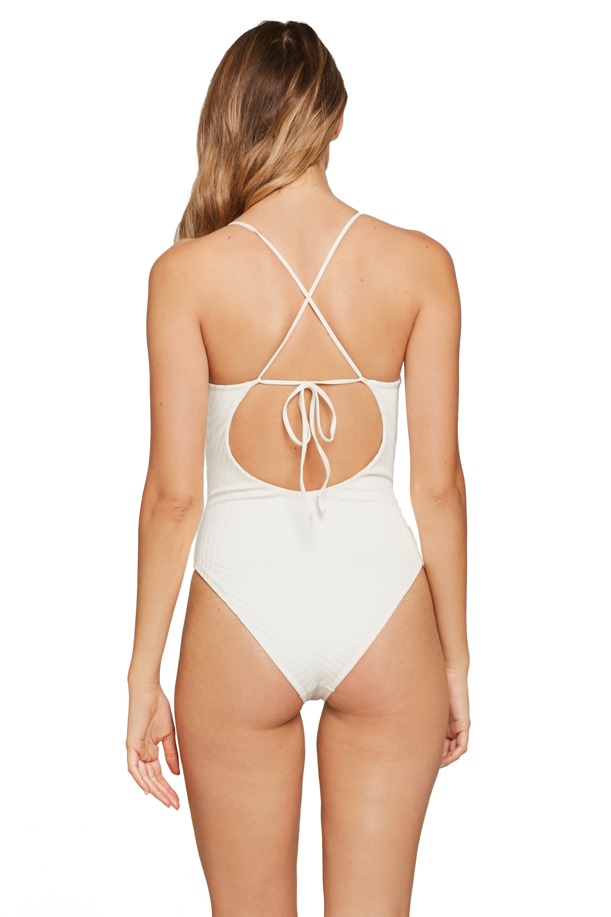 Miss Molly Lingerie Strap One Piece Swimsuit - Cream 2