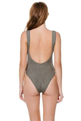 Classic Square Neck One Piece Swimsuit