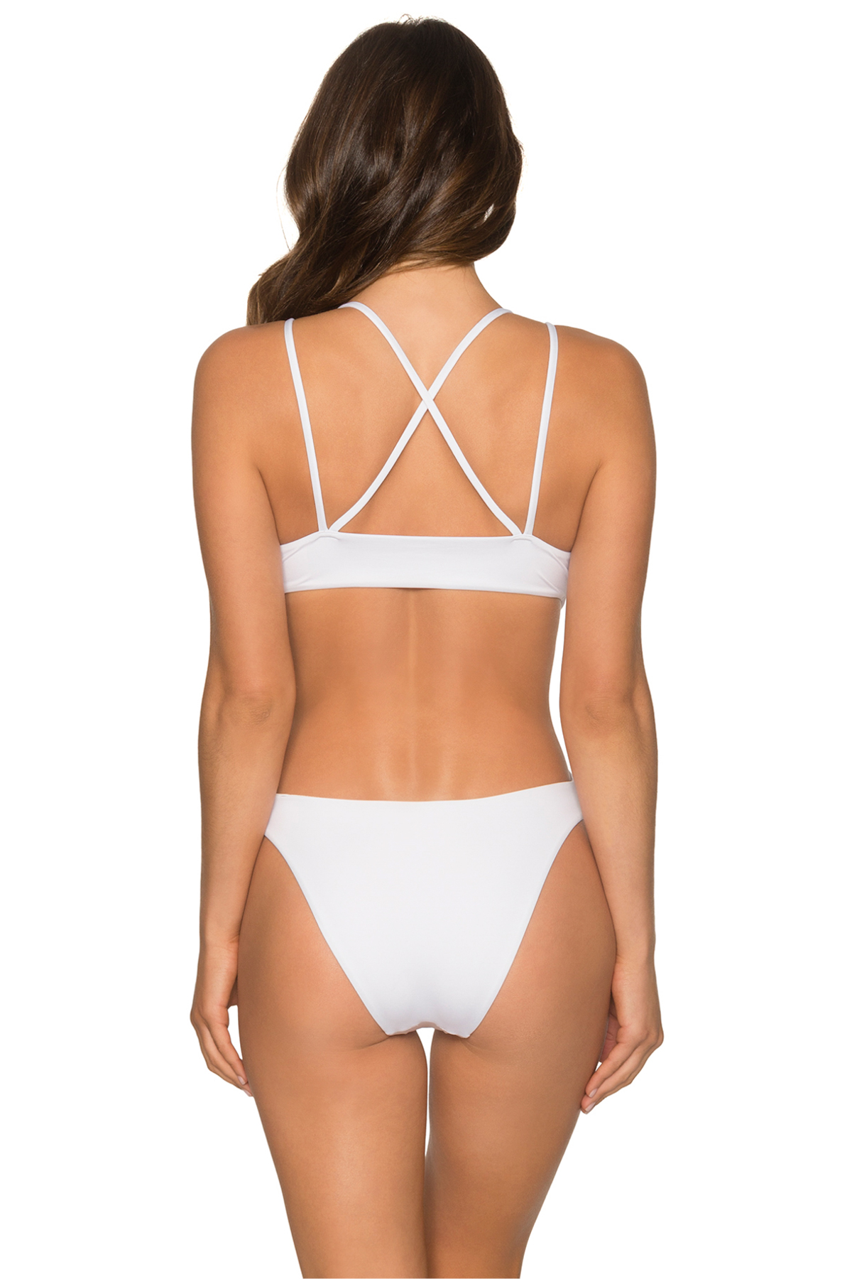 Aurora Plunge Cutout One Piece Swimsuit - White Opal 2