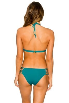 Deep Sea Molded Banded Halter Bikini Top