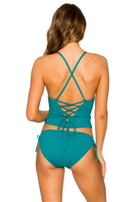 Palm Cross X-Back Tankini Top