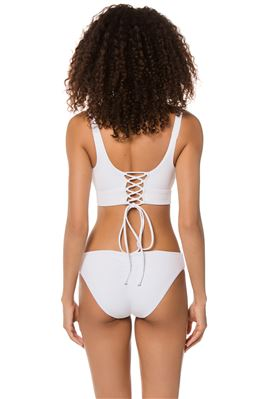 Over The Shoulder Lace-Up Bikini Top (D+ Cup)