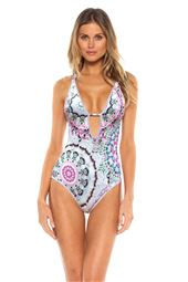 X-Back Plunge One Piece Swimsuit