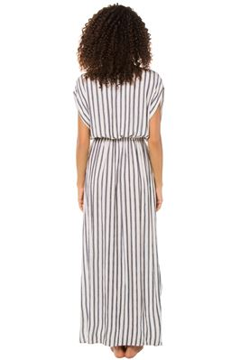 Plunging Striped Caftan