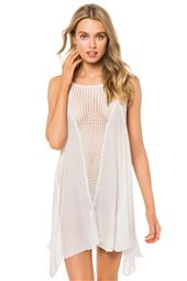 Sheer Mini Tank Dress