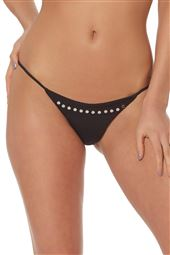 Studded String Brazilian Bikini Bottom