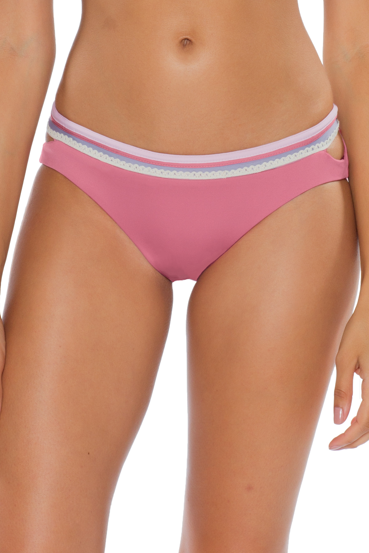 Banded Hipster Bikini Bottom - Mulberry 5