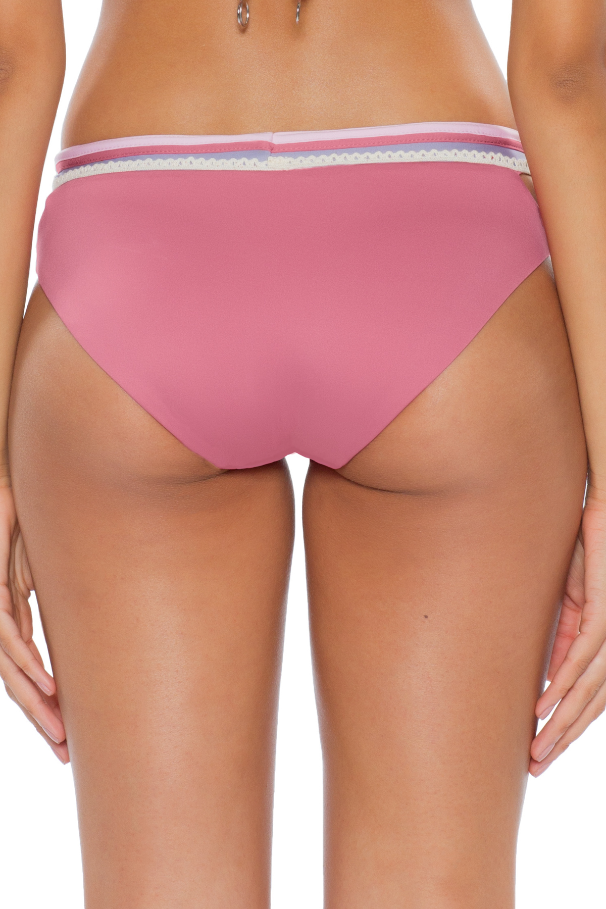 Banded Hipster Bikini Bottom - Mulberry 6
