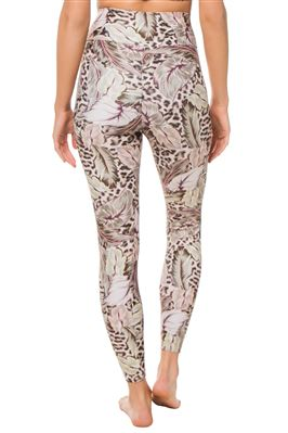 Cara Palm Tree Leopard Yoga Pants