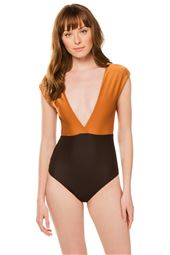 Band Roge Plunge One Piece Swimsuit