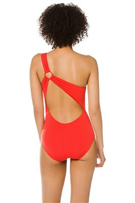 Asymmetrical Ring One Piece Swimsuit