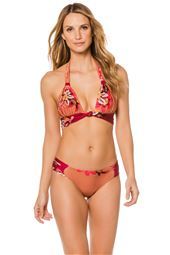 Knotted Banded Halter Bikini Top