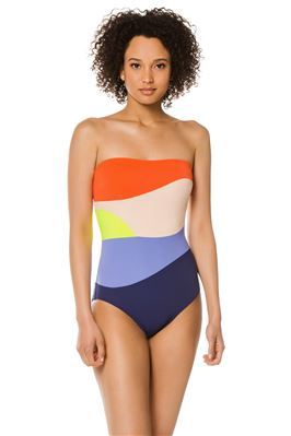 Sunset Bandeau One Piece Swimsuit