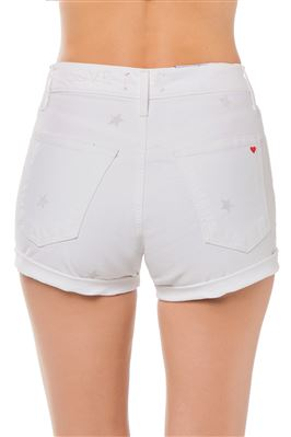 Star Denim Rolled Shorts