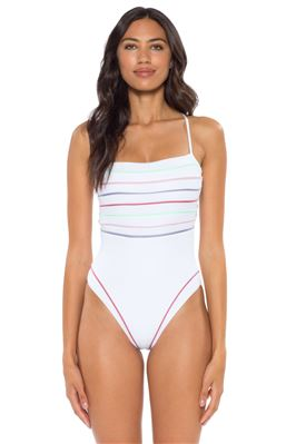 High Leg X-Back One Piece Swimsuit