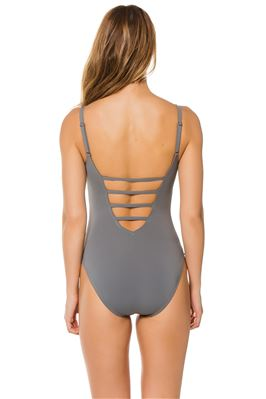 Wide Strap Plunge One Piece