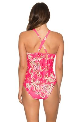 Mia High Neck X-Back Tankini Top