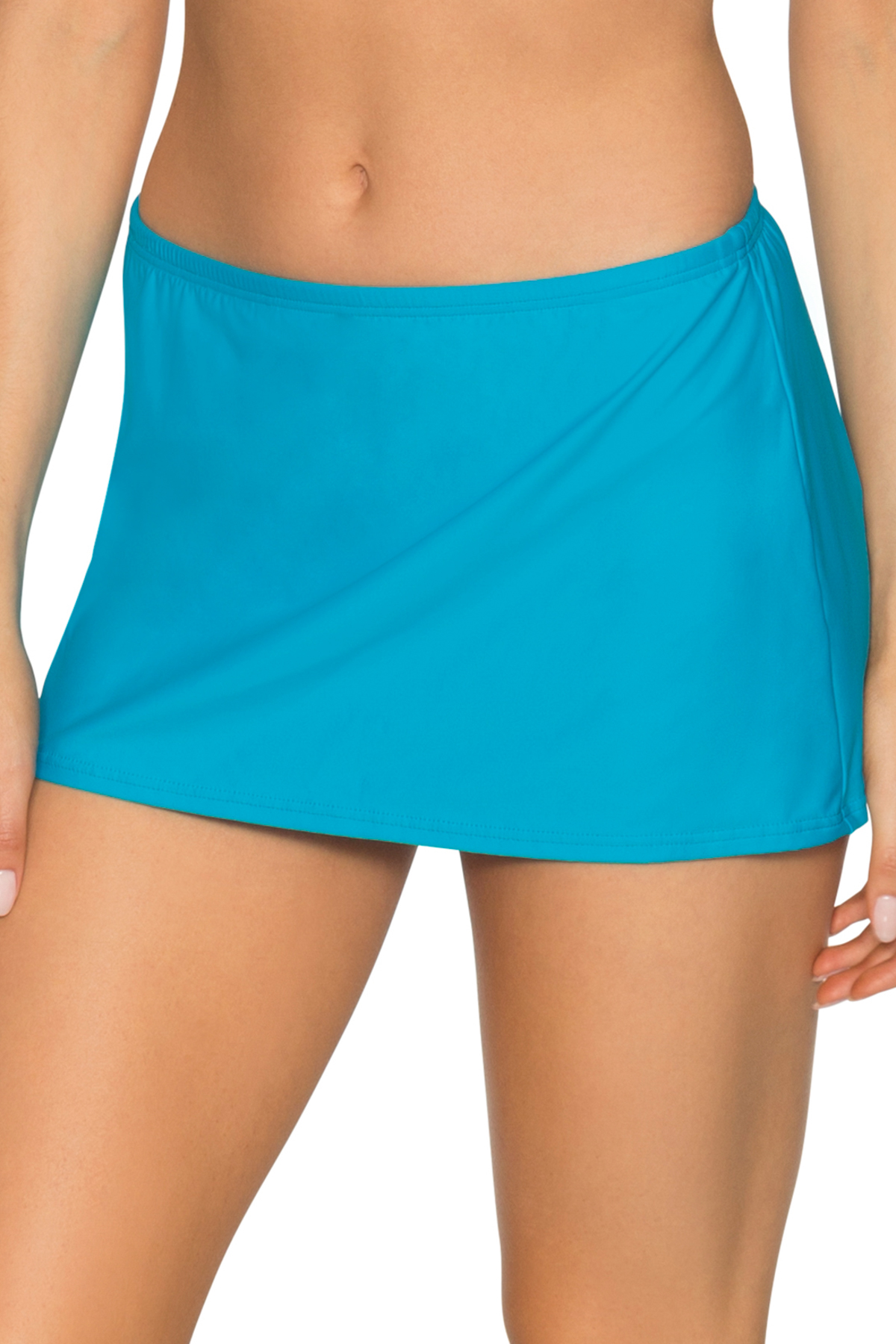 Kokomo Contemporary Skirted Bikini Bottom - Poolside Blue 1