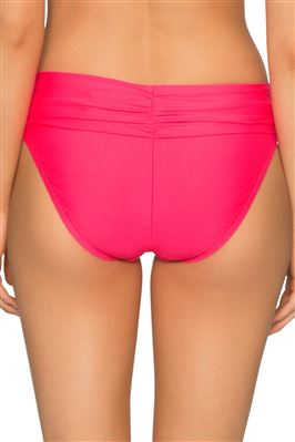 Unforgettable Neon Shirred Banded Bikini Bottom