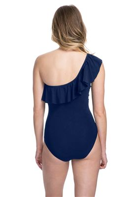Ruffled Asymmetrical One Piece Swimsuit
