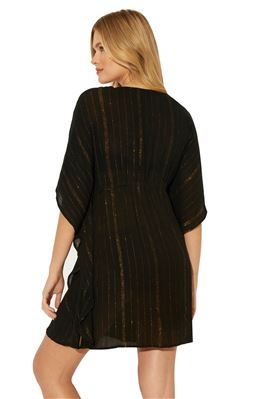 Metallic V-Neck Tunic